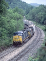 CSX 80 rolling through the curves on the old B&O St. Louis main